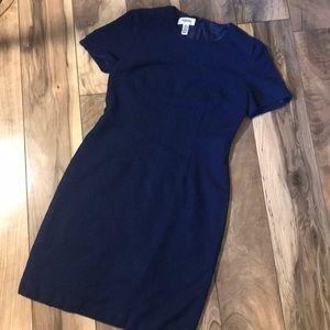 TALBOTS navy blue wool dress